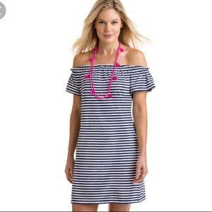 Vineyard Vines Striped Off-the-Shoulder Dress